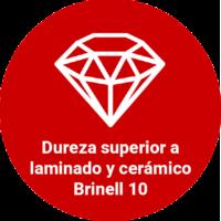 Dureza superioa a laminado y cerámico Brinell 10
